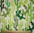 SNUGGLE FLANNEL SOUTHWEST SAGUARO DESERT CACTUS on CREAM 100 Cotton NEW BTY