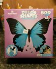 Paper House Puzzle Shapes Mountain Blue Butterfly 500 piece Jigsaw Puzzle! New!
