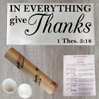Wall Decal Quote in Everything Give Thanks Thessalonians Scripture GD17