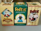 3 Popeye the Sailor Man Rare Fossil Watches w/ Boxes and COA's. (1, 2,