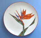 Fitz and Floyd Plate Bird of Paradise Flower porcelain tropical floral Japan