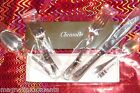 NIB CRISTOFLE RUBANS Luxury Sterling Silver 5 pc PLACE SET Flatware RARE VHTF