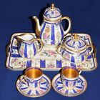 Dresden Tea for Two Set -Black Clover Mark 1920's -Excellent Condition-Saxony