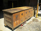 TURN OF THE CENTURY OAK COUNTRY STORE COUNTER BY SHERER--TEN DRAWERS