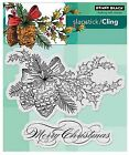 Merry Christmas Winter Pine Cling Style Unmounted Stamp PENNY BLACK 40 348 New