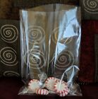 Crystal Clear Flat Open End Cello Style Bags Cookies Candy 15 MIL MultiSize Qty