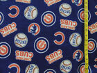 MLB CHICAGO CUBS BLUE FLEECE FABRIC 65X59 INCHES