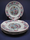 Set of 4 VTG Adams Calyx Ware SARABAND Ironstone Chinoiserie Dinner Plates
