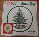 Spode Christmas Tree BUFFET SET 3 piece w/Box NEVER USED dinner plate cup/saucer