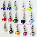 10Pcs Antiqued Tibetan Silver Tone Mermaid With Mixed Glass Beads Charms Pendant