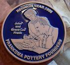 FRANKOMA FAMILY COLLECTOR REUNION TRIVET IN ORIGINAL BOX of JOHN AND GRACE LEE