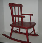Antique Primitive Childs Rocking Chair Wood Original Red Hand Painted Paint
