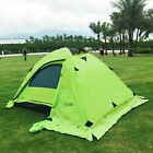 2 Person Double Layer Outdoor Waterproof Camping Hiking Backpack Mesh Tent Green