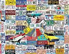 White Mountain Puzzles License Plates - 1000 Piece Jigsaw Puzzle