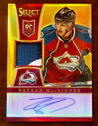 2013 14 NATHAN MACKINNON SELECT GOLD PRIZM AUTO PATCH SSP ROOKIE RC 10