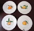 Set 4 Plates DERUTA ITALY FOR JORDANO'S HAND PAINTED FRUIT PLATES 9.5