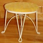 Mid Century Iron Hairpin Leg Vanity Stool Hollywood Regency Gold Teena Originals