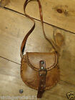 LadiesVintage small brown leather saddle bag satchel 1940s