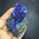 142g  Natural AZURITE Crystal Growth On Green MALACHITE Mineral Specimen   G171