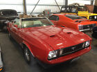 Ford Mustang Two Door Convertible 1973 red ford mustang convertible