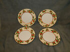 Set of 4 Fitz and Floyd Christmas Holly Salad Plates