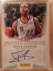 2014 PANINI PRIVATE SIGNINGS TONY PARKER AUTO #10 10