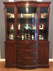 DREXEL CHINA CABINET Mahogany Travis Court Bowed Front VINTAGE