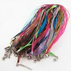 Organza Voile Ribbon Necklace Silk Cord Thread Wire Lobster Clasp 520pcs Diy