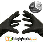 4000 2X-Large Black Nitrile Gloves Medical Exam Powder-Free 4 Mil Thick by PSBM