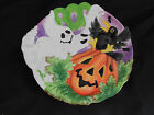 Fitz and Floyd Jack O Lantern Canape Plate Ghost Crow Boo New