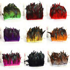Hackle Rooster Feather Fringe trim 1 to 10 yard Craft Sewing Costume 10 15cm