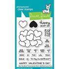 Lawn Fawn HOW YOU BEAN Hearts Shaker Add On SO SMOOTH Clear Stamp Set Dies