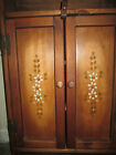 Vintage Antique Wall Wood Medicine Wall Cabinet Shelves Kitchen Towel Bar Lovely