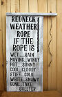 LARGE Rustic Primitive Sign Redneck Weather Rope Country Farm Distressed Wood