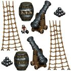 9 large PIRATE SHIP PROPS Party Decoration PIRATES OF THE CARIBBEAN