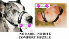 DOG GROOMING TRAINING No Bark No Bite Comfort Easy Fit Adjustable Muzzle2 SIZES