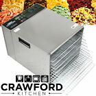 New STAINLESS STEEL Commercial Dehydrator Food Fruit Jerky Dryer Tray Blower *