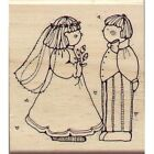 Wedding Couple DJ Inkers N46 Wood Rubber Stamp Country Marriage Love Engagement