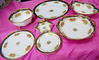 Nippon Noritake Morimura Set of 7 Serving Pieces - Cobalt, Gold Moriage [S6454]