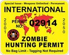 International Zombie Hunting Permit YELLOW