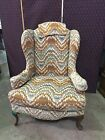 VTG  of Hickory  Wingback Upholstered Arm Chair