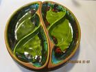 retro matching tray dish set w. Lazy Susan Santa Anita Ware No. R-149 California