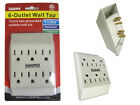 6 Outlet Wall Tap Grounding Electrical Adapters