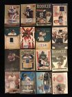 Lot of 16 Misc Football Autos Stars Rookies #'d & Relics