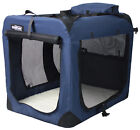 EliteField Navy Blue 3 Door Folding Soft Dog Crate Cage Kennel 5 Sizes