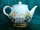 Ellgreave Floral Teapot Flower Spray Gold Trim with lid by Wood