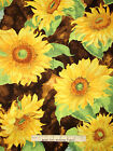 Sunflower Floral Fabric Sun Flower Autumn Slice Of Sunshine Wilmington 22