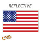 Reflective 6 American Flag sticker decal 1 piece military patriotic USA VINYL