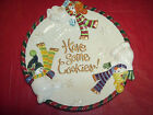 Fitz and Floyd Frosty Folks Handcrafted Christmas Snowman Cookie Plate