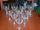 Set of 10 etched stemware glasses - wheat pattern